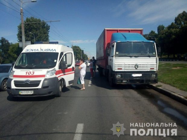 В Харькове водитель грузовика травмировал пешехода