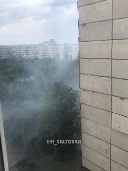 На Салтовке горели балконы многоэтажки