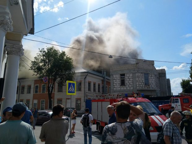 Пожар в Украинской инженерно-педагогической академии