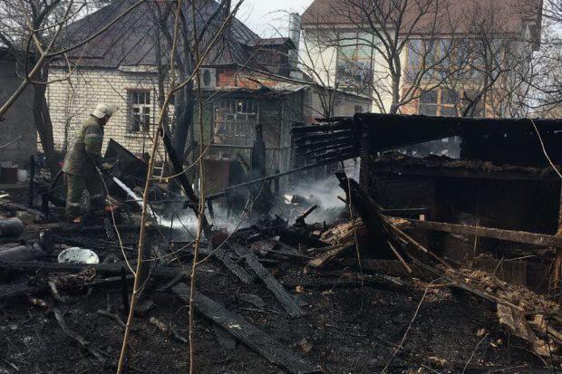 Пожар в Немышлянском районе Харькова