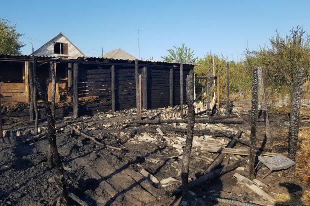 Под Харьковом сгорело 8 тонн сена
