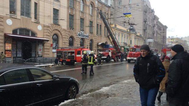 Пожар на улице Сумской Харьков