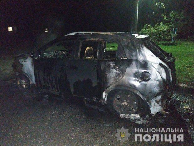 На Харьковщине неизвестные подожгли автомобиль