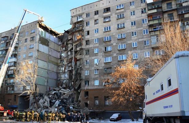 Взрыв в 16-тиэтажке на Московском проспекте