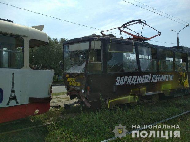 В Харькове столкнулись трамваи: пострадали четыре человека