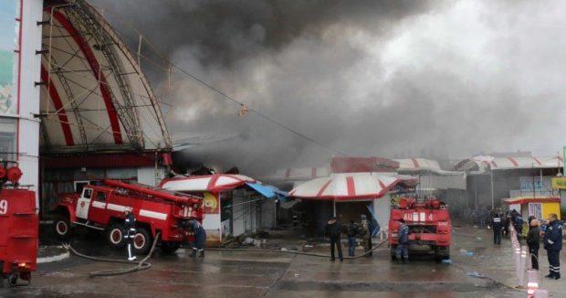 """Пожар на рынке """"Барабашово"""""""