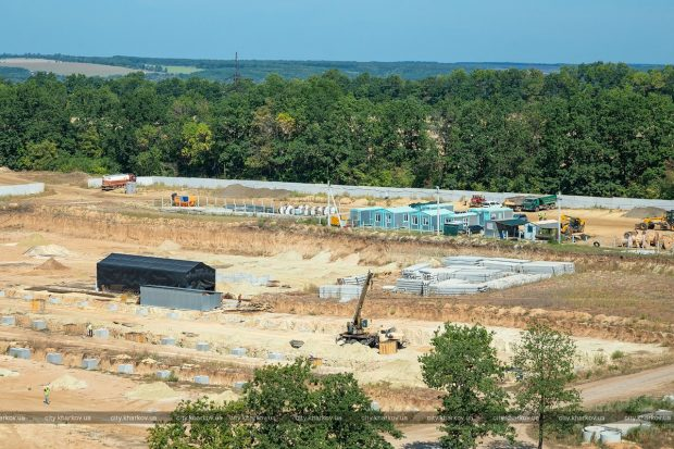 На Дергачевском полигоне ТБО строится мусороперерабатывающий комплекс