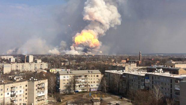 Взрыв арсенала в Балаклее