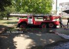В Харькове, приехавшая на пожар, машина спасателей провалилась под землю