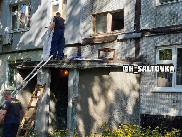 На Салтовке мужчина выбросился из окна многоэтажки