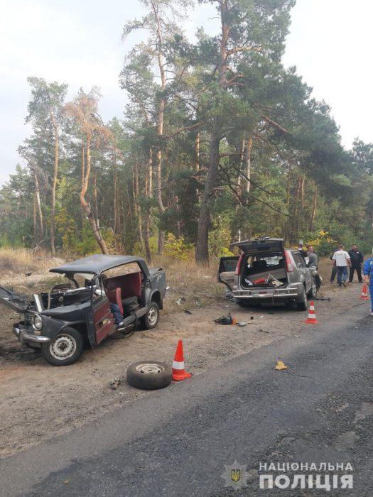 На Харьковщине в результате лобового столкновения автомобилей погиб мужчина