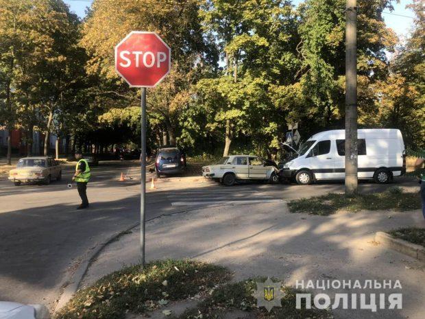 В ДТП на ХТЗ пострадали двое детей, мужчина и женщина