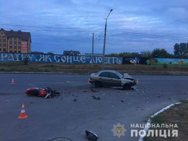 На Салтовке в результате аварии погиб мотоциклист