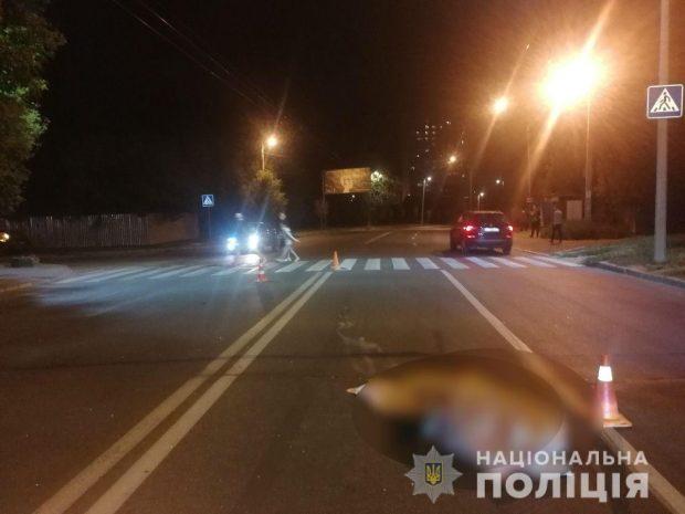 В Харькове автомобиль насмерть сбил женщину-пешехода и скрылся с места аварии