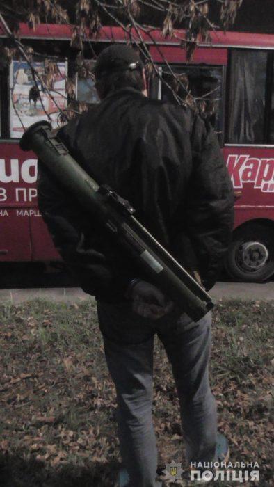 В Харькове задержали мужчину с гранатометом