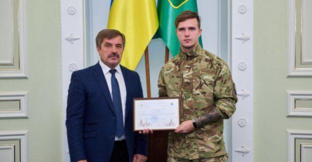 В горсовете поздравили военнослужащих с Днем защитника Украины