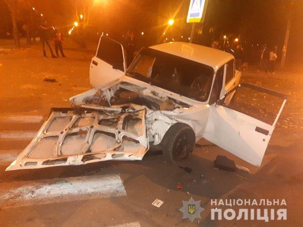 В Харькове столкнулись два автомобиля