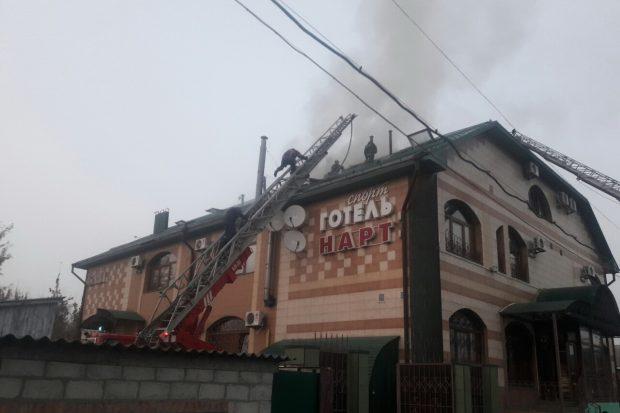 В Харькове горел отель