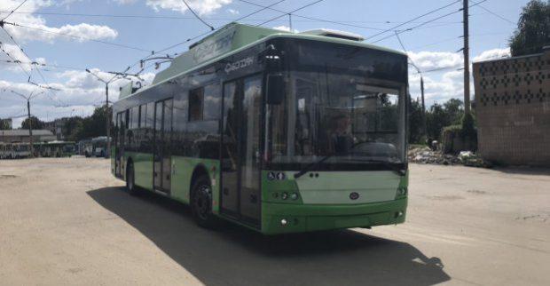 В Харьков поступила очередная партия современных троллейбусов