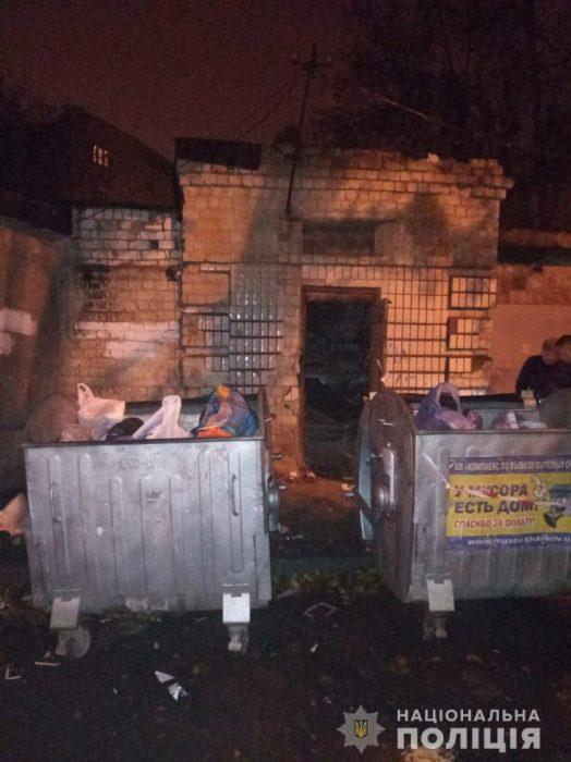 В Харькове мужчина бросил тело убитой женщины возле мусорных баков