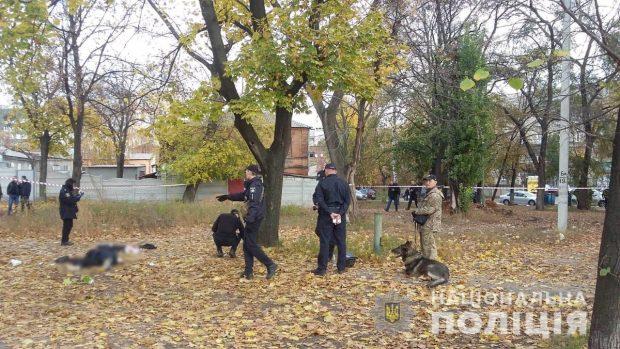 В ходе расследования перестрелки на Клочковской полицейские обнаружили еще один схрон с оружием