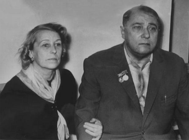 Владимир Сосюра с женой Марией
