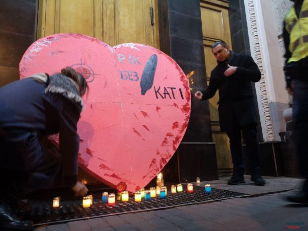 В Харькове прошла акция в годовщину смерти Гандзюк