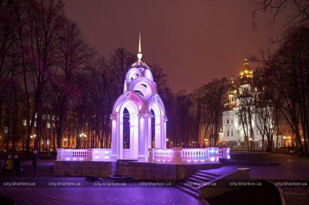 Харьков украсили к Новому году