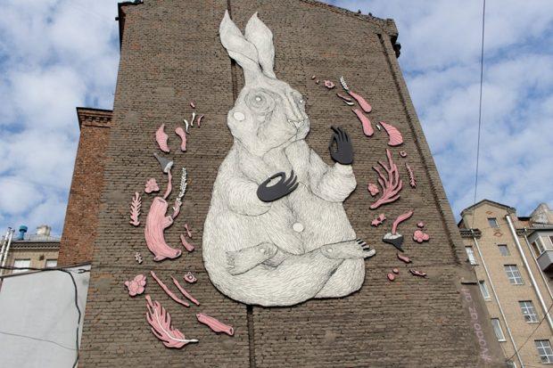 Кролик арт-объект
