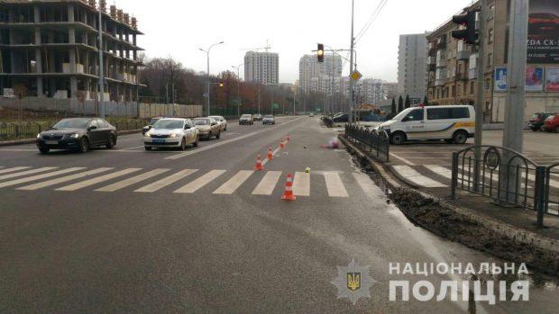 В Харькове водитель легковушки сбил женщину-пешехода и сбежал с места аварии
