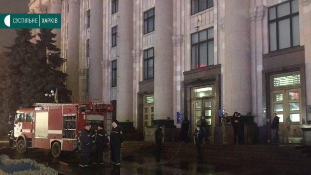 В Харькове мужчина поджег дверь обладминистрации