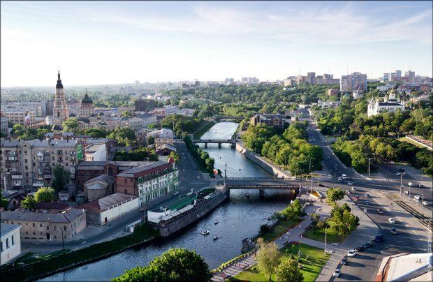 Вид на Харьков с высоты