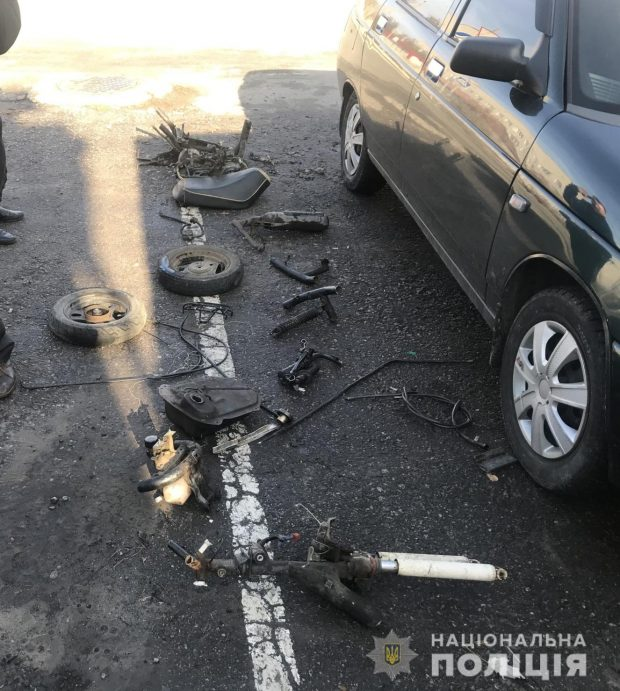 Под Харьковом подростки украли скутер и сдали его на металолом