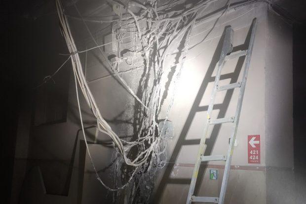 В центре Харькова горело административное здание