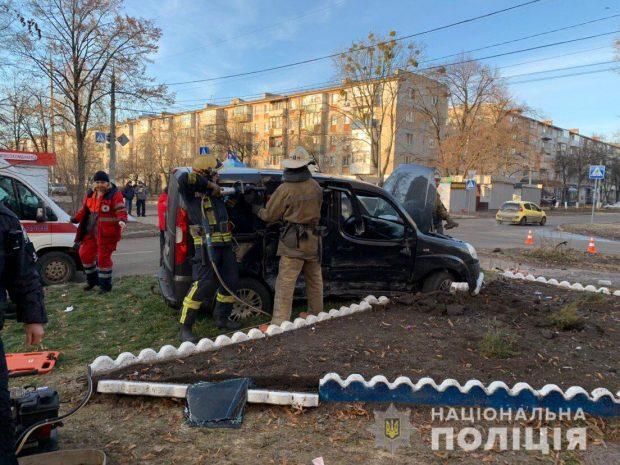 В Харькове в результате ДТП пострадали два человека