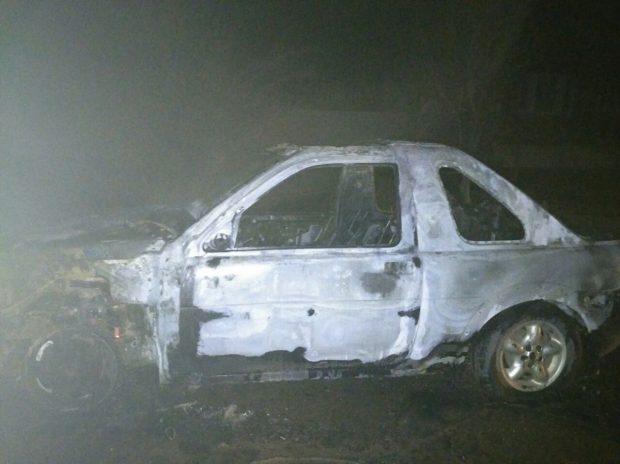 В Харькове сожгли Land Rover Freelander
