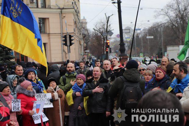 """Во время акции """"за русский язык"""" под ХОГА пострадали двое человек - полиция"""