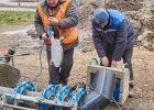 На улице Клочковской меняют трубопровод