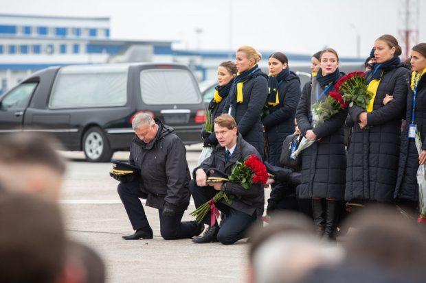 """В """"Борисполе"""" прощались с жертвами авиакатастрофы в Иране"""