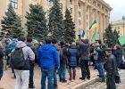 Акция «за русский язык» под Харьковской ОГА закончился так и не начавшись