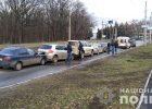 В Харькове столкнулось пять автомобилей