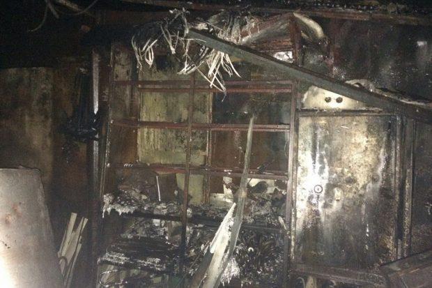 В Харькове на территории частного сектора сгорели нежилые помещения