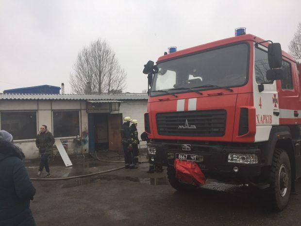 В Харькове горела котельная производственного здания