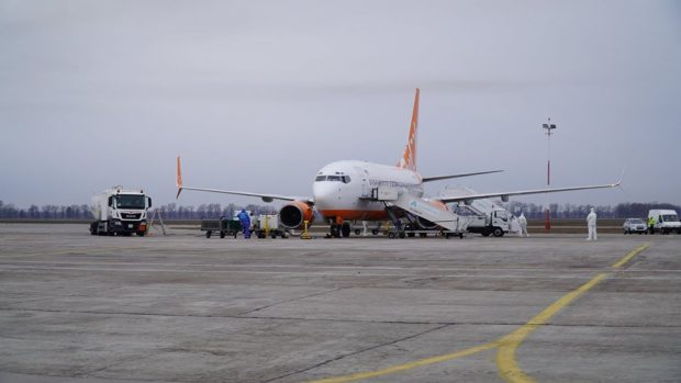 Самолет, которые приземлится в Харькове авиакомпании SkyUp, проходил в Борисполе дизенфицирующую обработку - источник