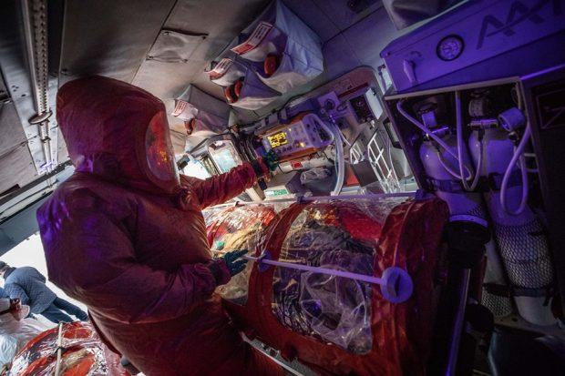 Транспортировать вероятных инфицированных коронавирусом будут на специальном санитарном вертолете