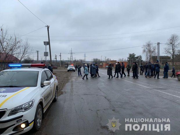 Протест против добычи сланцевого газа под Харьковом завершился
