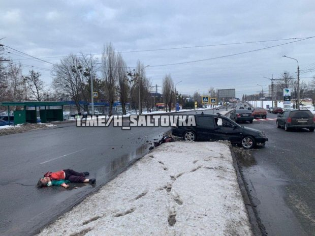На Салтовке насмерть сбили двоих пешеходов - соцсети