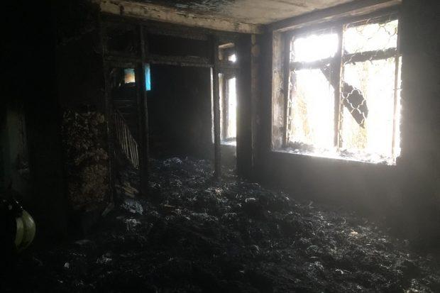 В Харькове горел корпус ПТУ