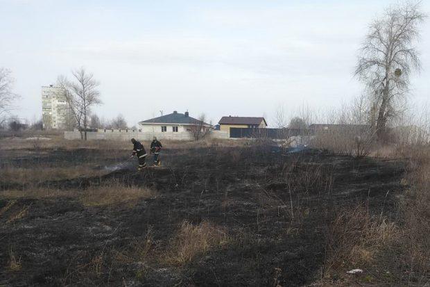 Пожары на Харьковщине: огонь уничтожил две опоры линий электропередачи