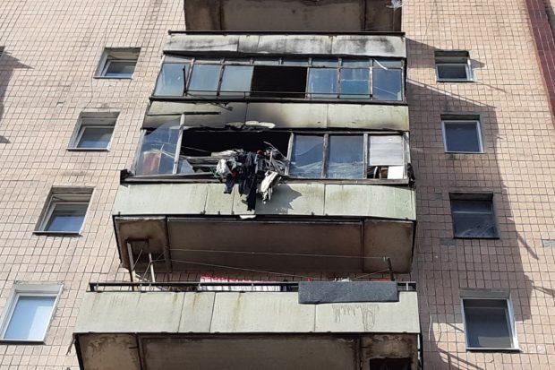 В Харькове спасатели эвакуировали 35 человек на пожаре в 9-этажке